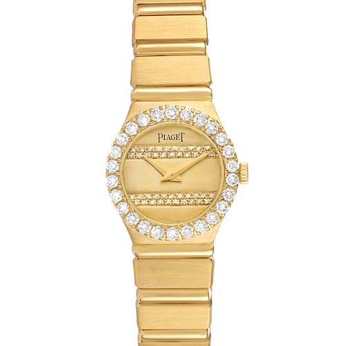 Photo of Piaget Polo 18K Yellow Gold Diamond Dial Quartz Ladies Watch