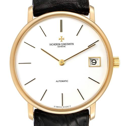 Vacheron Constantin Patrimony 18K Yellow Gold White Dial Mens Watch 44001
