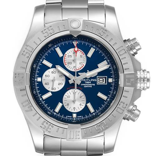 Breitling Aeromarine Super Avenger Blue Dial Steel Mens Watch A13371