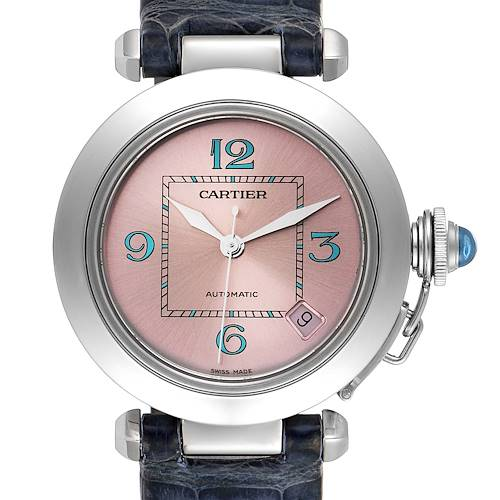 Photo of Cartier Pasha C Medium Pink Blue Dial Limited Edition Watch W3108199
