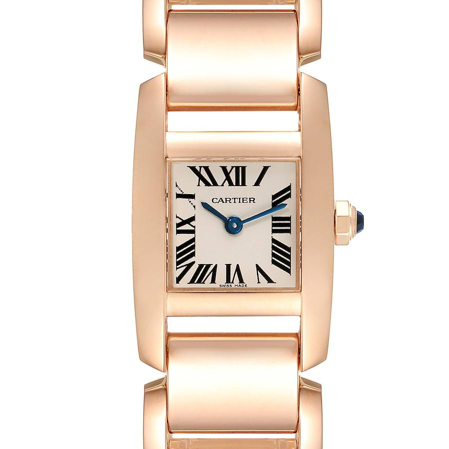 Cartier Tankissime Silver Dial Rose Gold Ladies Watch W650048H SwissWatchExpo