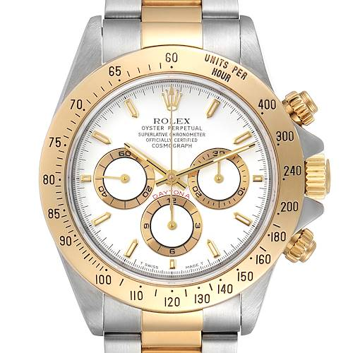 Photo of Rolex Daytona Steel Yellow Gold White Dial Mens Watch 16523