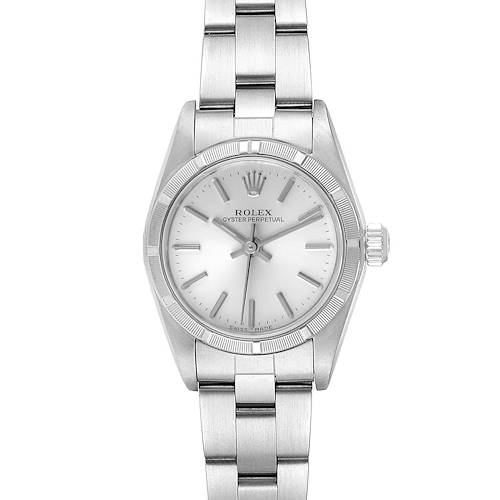 Photo of Rolex Oyster Perpetual NonDate Silver Dial Ladies Watch 76030