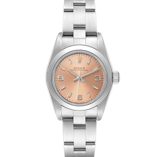 Photo of Rolex Oyster Perpetual Salmon Dial Steel Ladies Watch 76080