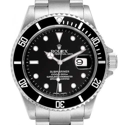 Photo of Rolex Submariner Black Dial Stainless Steel Mens Watch 16610