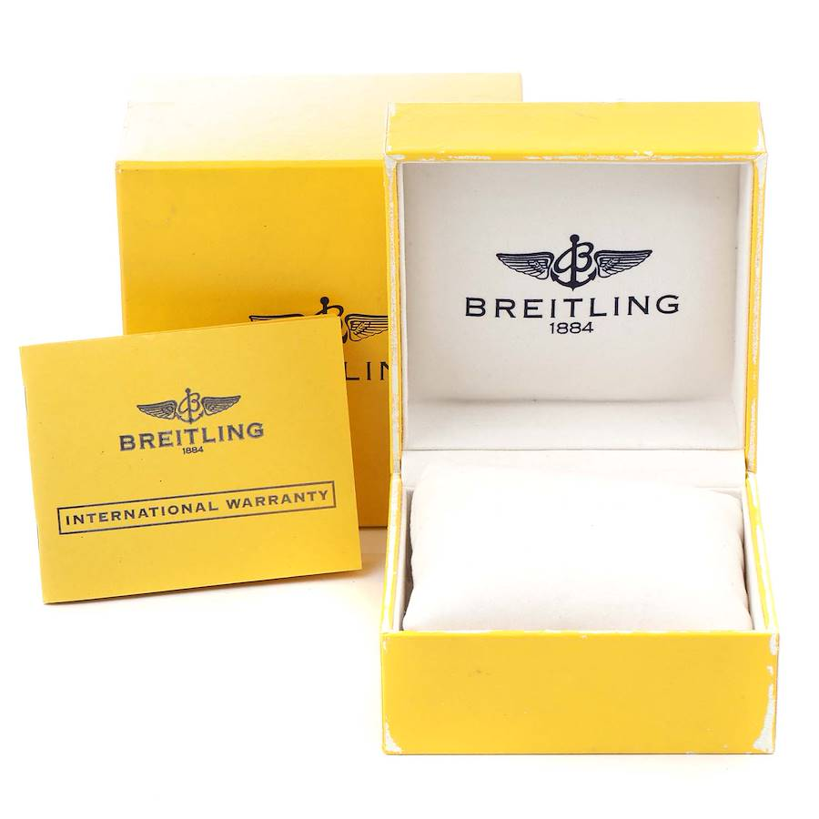 Breitling Aeromarine Superocean Black Dial Mens Watch A13340 Box Papers SwissWatchExpo