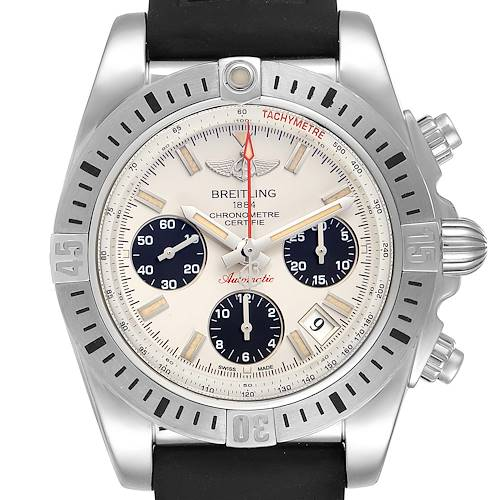 Photo of Breitling Chronomat 41 Airborne Silver Dial Steel Mens Watch AB0144 Box Papers