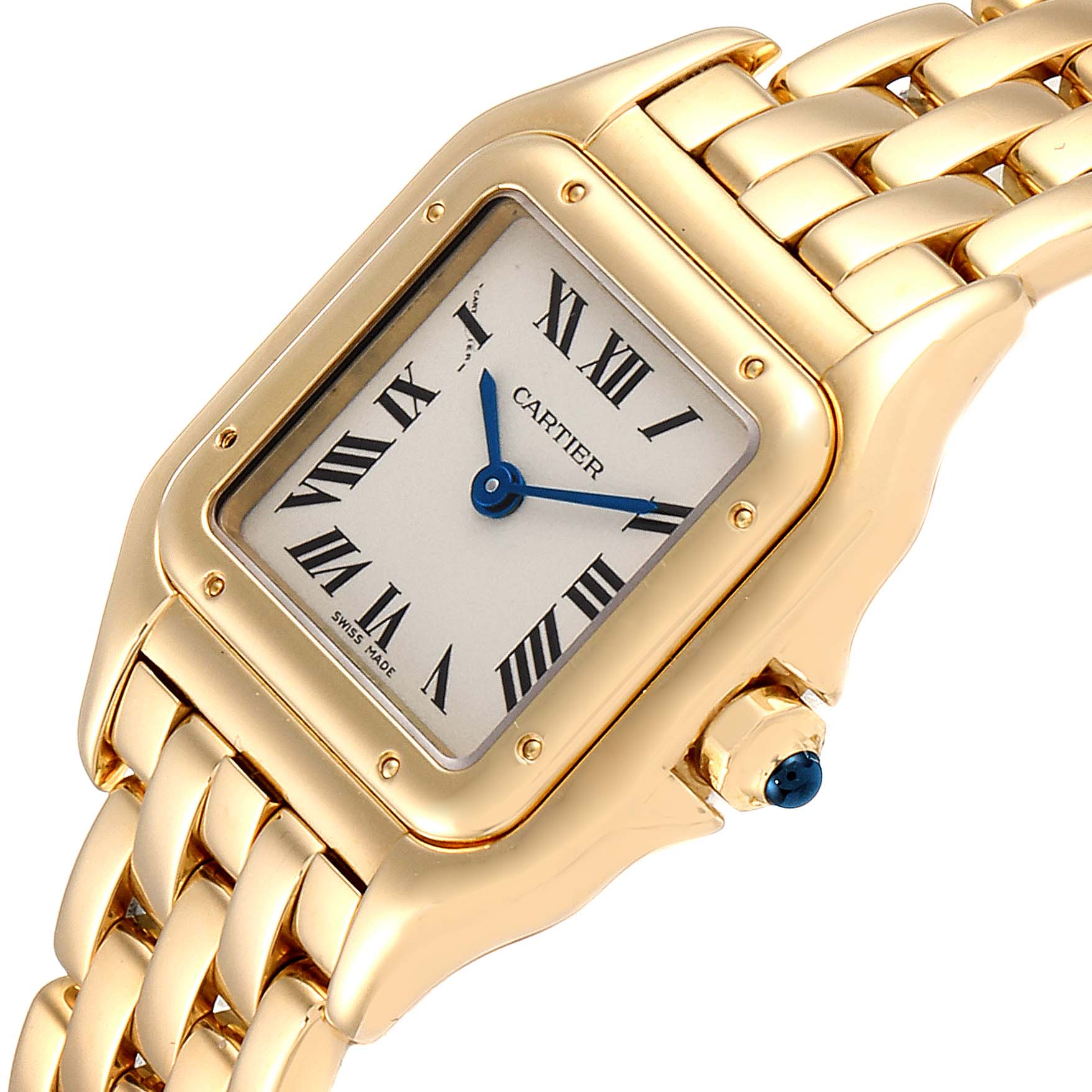 Cartier Panthere Small Yellow Gold Silver Dial Ladies Watch W25022B9 Box SwissWatchExpo