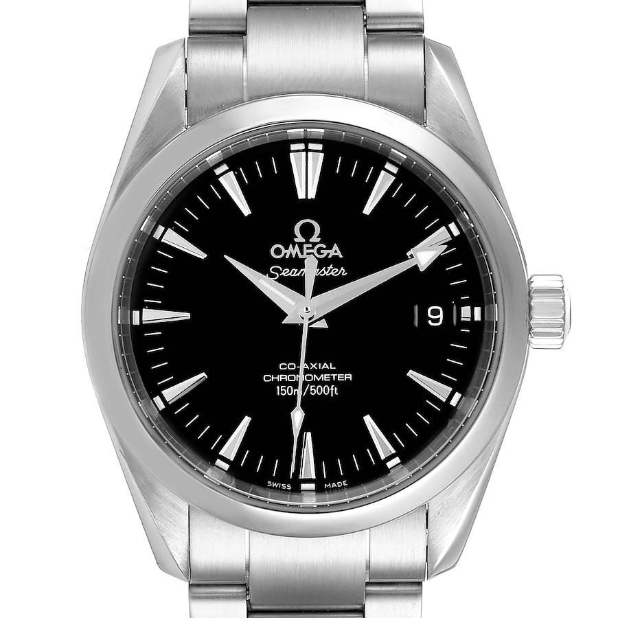 Omega Seamaster Aqua Terra 36 Black Dial Steel Watch 2504.50.00 Card SwissWatchExpo