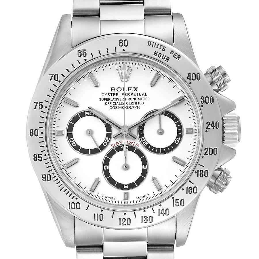 Rolex Cosmograph Daytona White Dial Zenith Movement Watch 16520 SwissWatchExpo