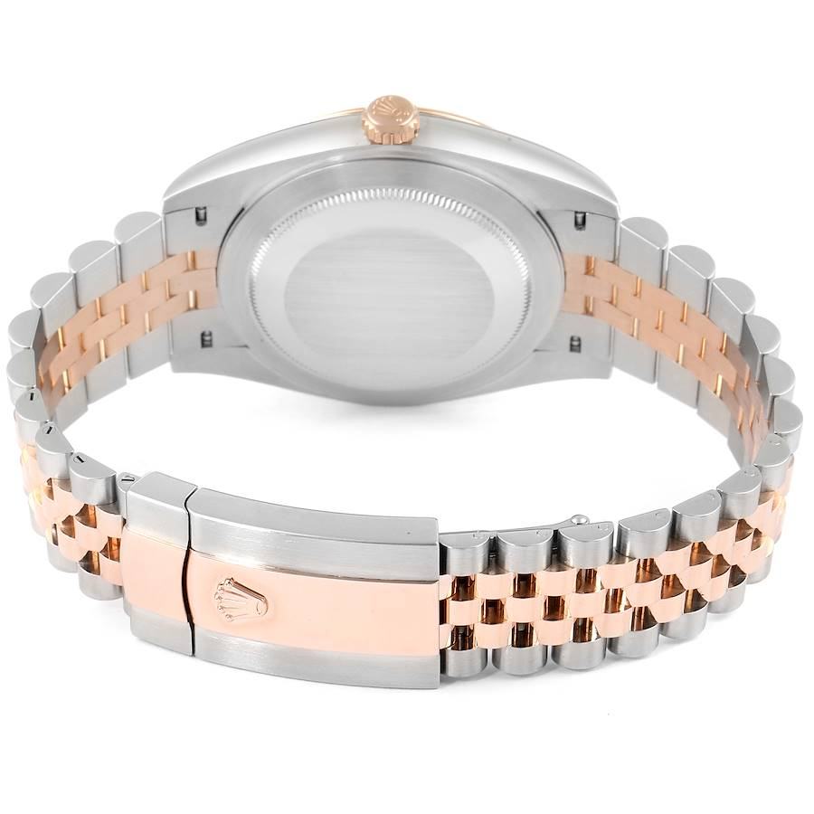 Rolex Datejust 41 Steel Everose Gold Diamond Dial Mens Watch 126331 SwissWatchExpo