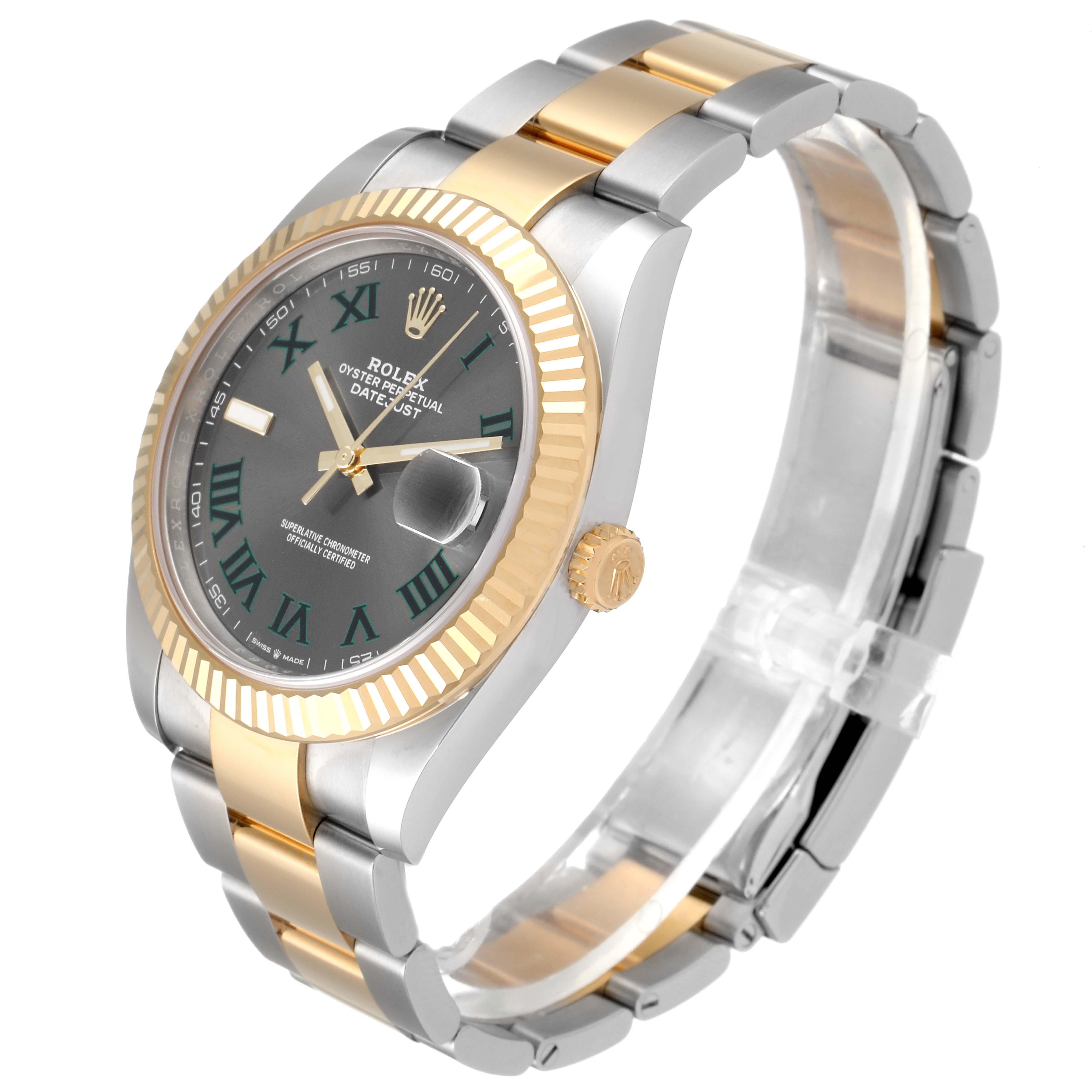 Rolex Datejust 41 Steel Yellow Gold Wimbledon Mens Watch 126333 Unworn SwissWatchExpo