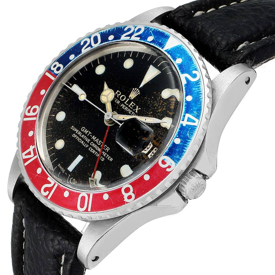 Rolex GMT Master Vintage Red and Blue Pepsi Bezel Mens Watch 1675 SwissWatchExpo