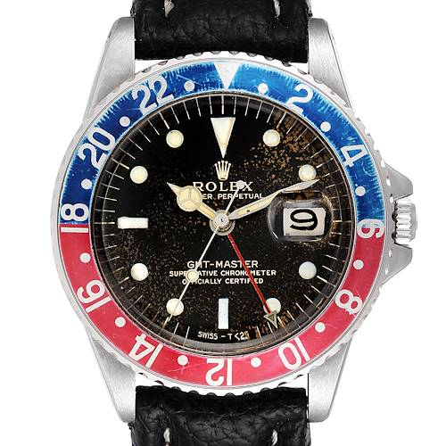 Photo of Rolex GMT Master Vintage Red and Blue Pepsi Bezel Mens Watch 1675