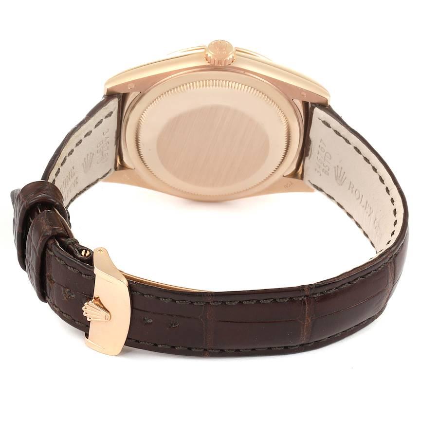 Rolex President Day-Date 18k Everose Gold Chocolate Mens Watch 118135 SwissWatchExpo