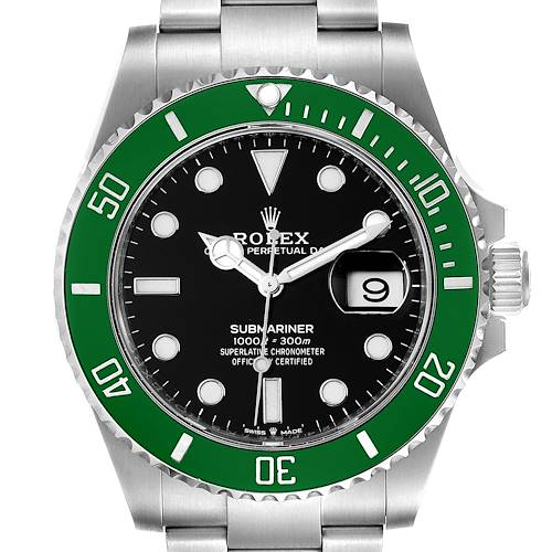 Photo of Rolex Submariner Green Kermit 41 Steel Mens Watch 126610LV Unworn