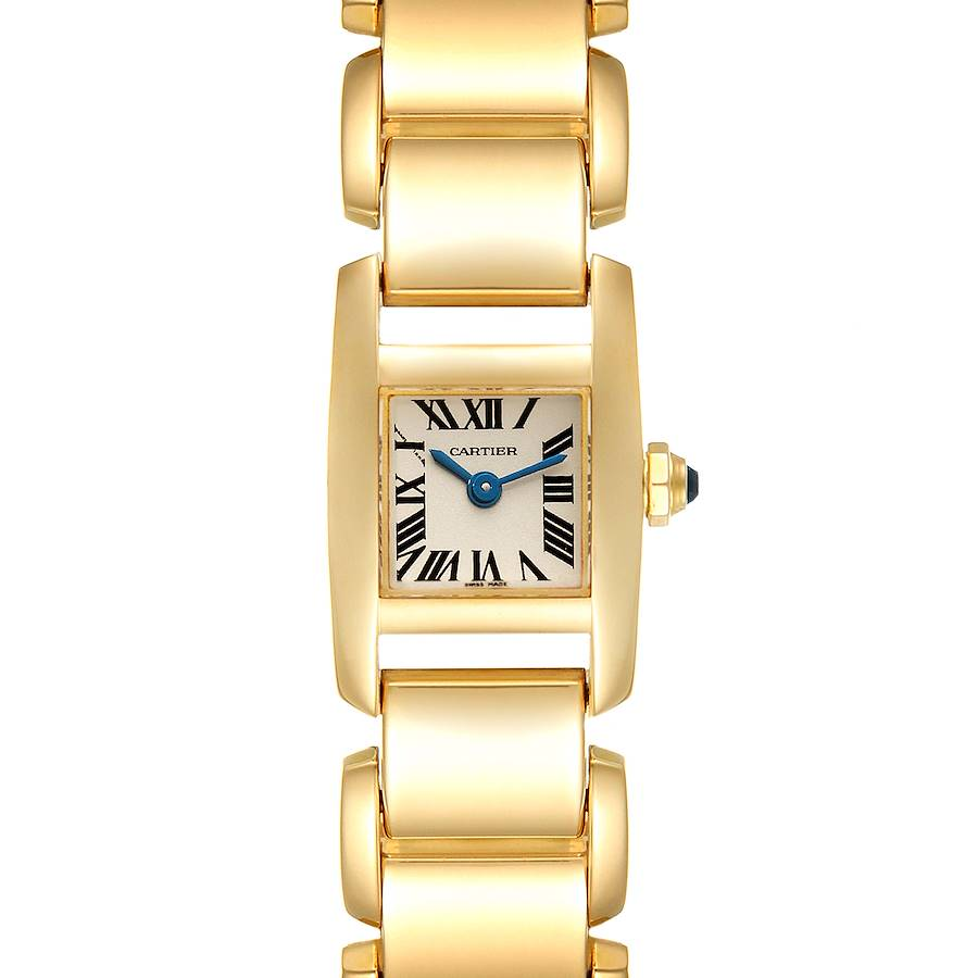 Cartier Tankissime Small Yellow Gold Ladies Watch W650048H Box Papers SwissWatchExpo