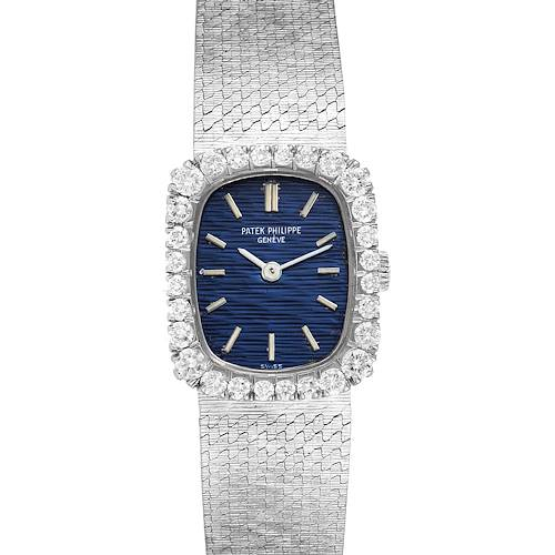 Photo of Patek Philippe 18k White Gold Diamond Bezel Cocktail Ladies Watch 4102