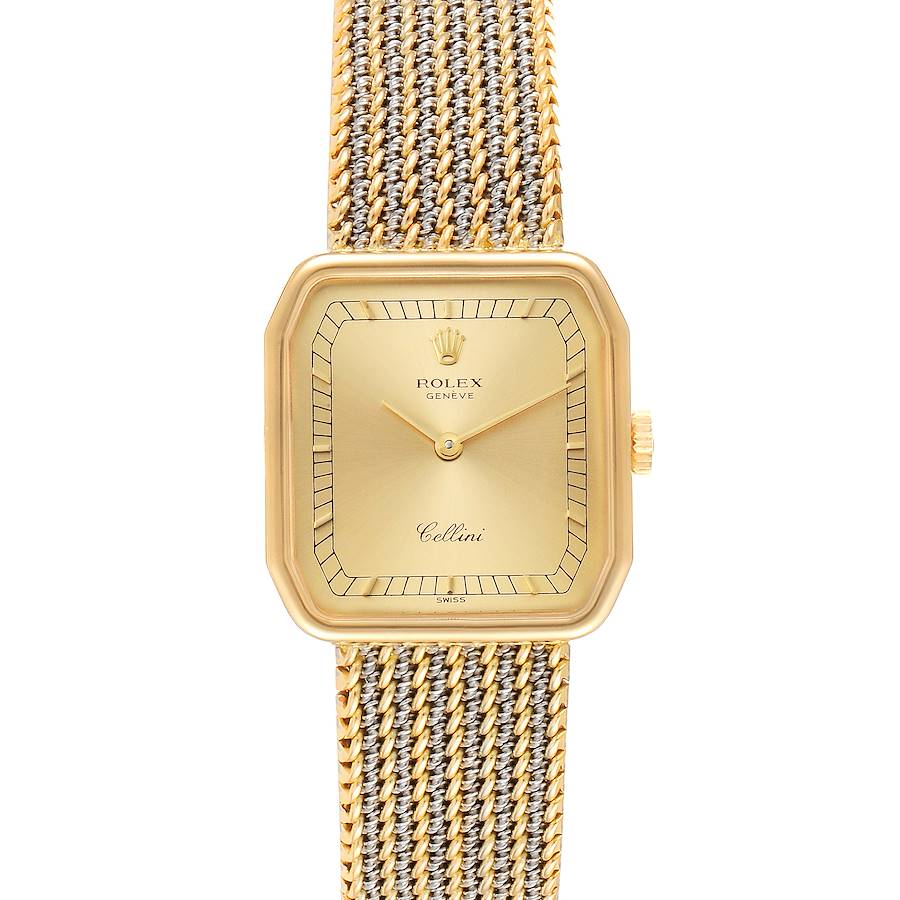 Rolex Cellini 18k Yellow Gold Champagne Dial Ladies Watch 4347 SwissWatchExpo