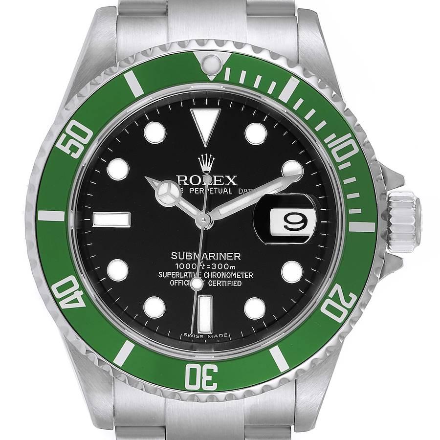 Rolex Submariner Green 50th Anniversary Mens Watch 16610LV SwissWatchExpo