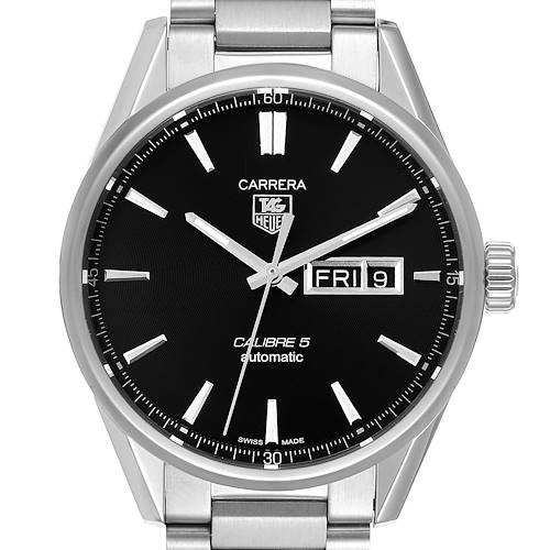 Photo of Tag Heuer Carrera Calibre 5 Day Date Steel Mens Watch WAR201A
