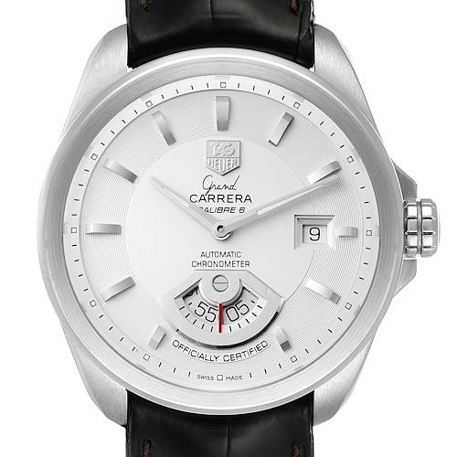 Photo of Tag Heuer Grand Carrera Date Silver Dial Steel Mens Watch WAV511B Box Card