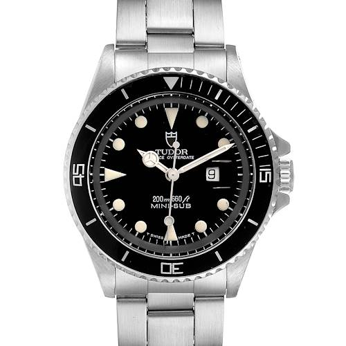 Photo of Tudor Prince Date Mini Sub Black Dial Steel Mens Watch 73090