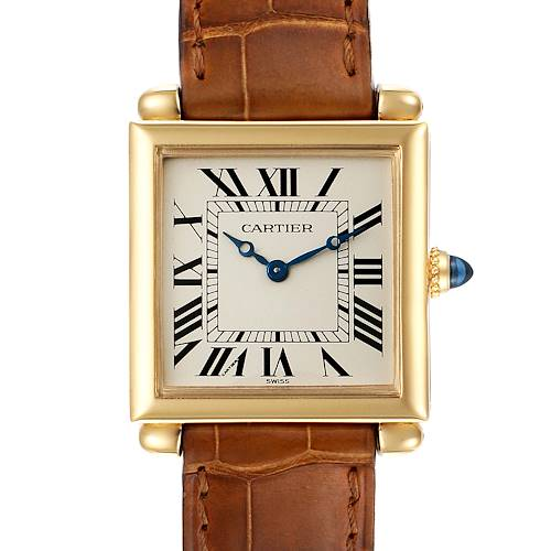 Photo of Cartier Tank Obus Silver Dial 18k Yellow Gold Ladies Watch 1630