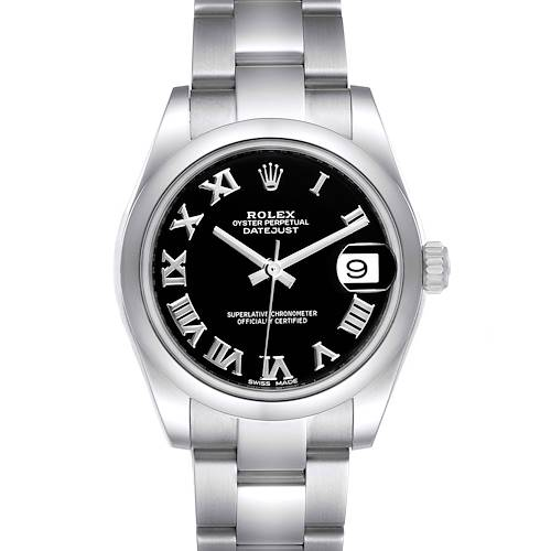 Photo of Rolex Datejust Midsize Black Dial Steel Ladies Watch 178240