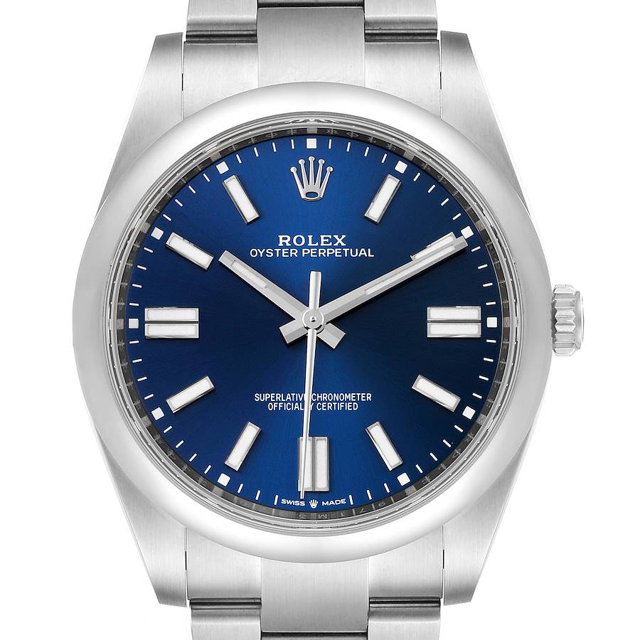 Rolex Oyster Perpetual 41mm Automatic Steel Mens Watch 124300 Box Card SwissWatchExpo