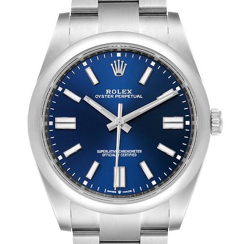 Photo of Rolex Oyster Perpetual 41mm Automatic Steel Mens Watch 124300 Box Card
