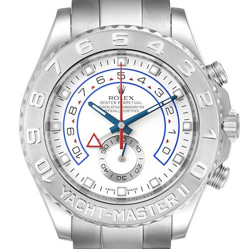 Photo of Rolex Yachtmaster II Regatta White Gold Platinum Mens Watch 116689