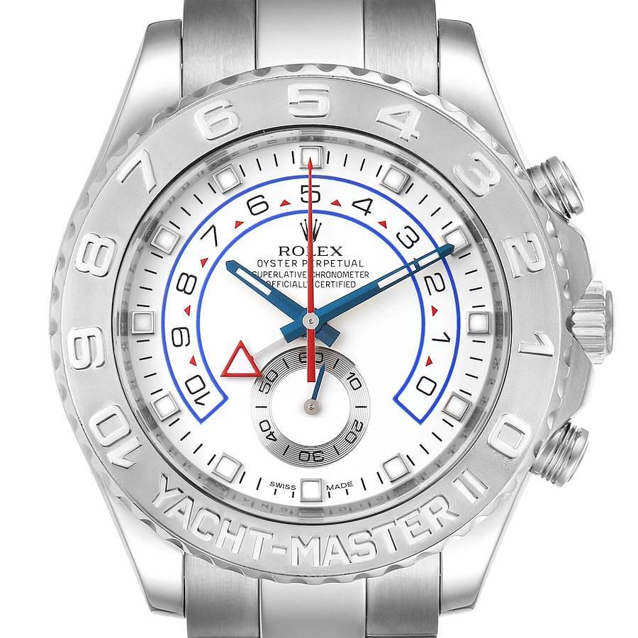 Rolex Yachtmaster II Regatta White Gold Platinum Mens Watch 116689 SwissWatchExpo