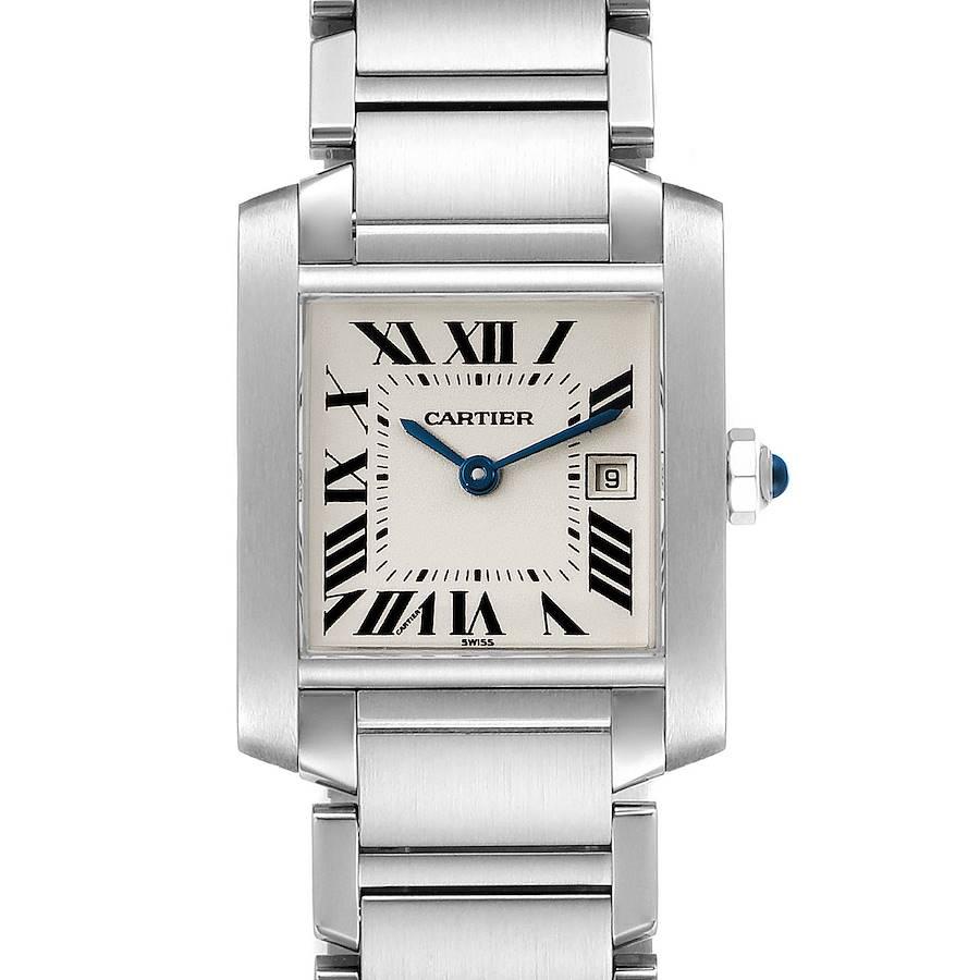 Cartier Tank Francaise Midsize 25mm Ladies Watch W51011Q3 SwissWatchExpo