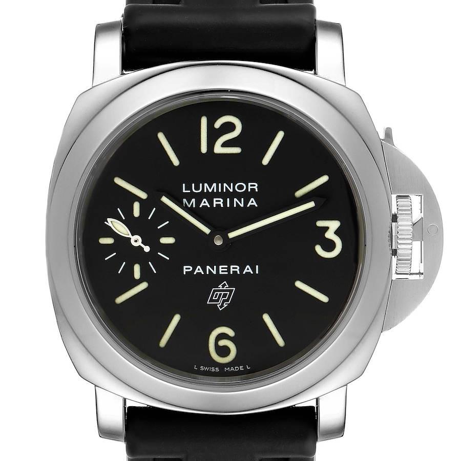 Panerai Luminor Marina Logo 44mm Black Dial Mens Watch PAM00005 SwissWatchExpo