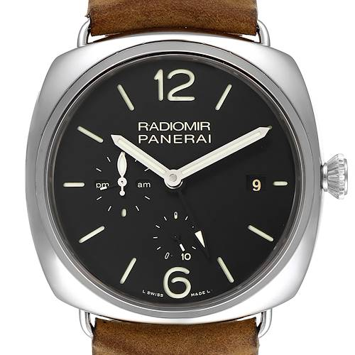 Photo of Panerai Radiomir Acciaio 47mm 10 Days GMT Steel Watch PAM00323 Box Papers