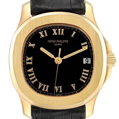 Photo of Patek Philippe Aquanaut 18k Yellow Gold Black Dial Mens Watch 5060