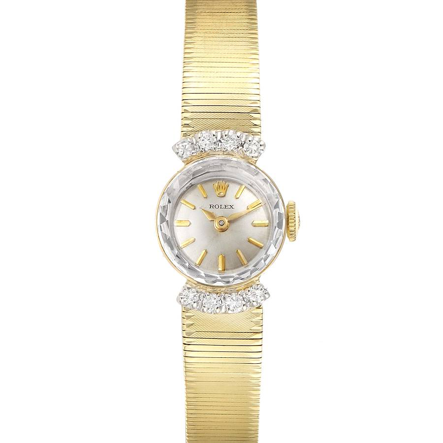 Rolex 14k Yellow Gold Diamond Vintage Cocktail Ladies Watch SwissWatchExpo