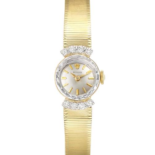 Photo of Rolex 14k Yellow Gold Diamond Vintage Cocktail Ladies Watch