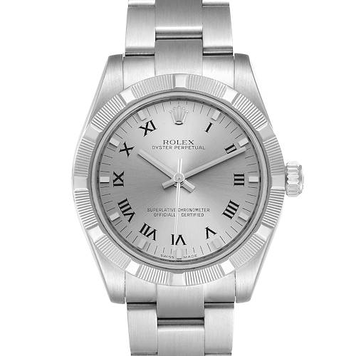 Photo of Rolex Midsize 31 Silver Rhodium Dial Steel Ladies Watch 177210 Box Card 2 LINKS ADDED