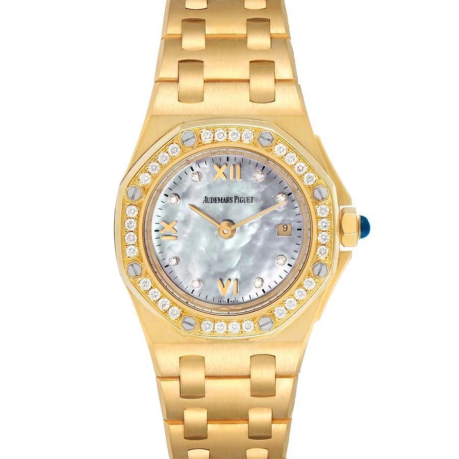 Audemars Piguet Royal Oak Offshore Yellow Gold Diamond Ladies Watch 67151BA SwissWatchExpo