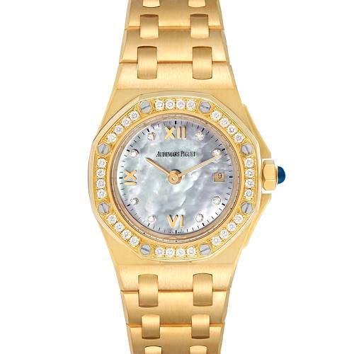 Photo of Audemars Piguet Royal Oak Offshore Yellow Gold Diamond Ladies Watch 67151BA