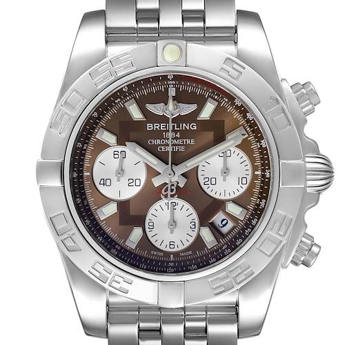 Photo of Breitling Chronomat Evolution 41mm Steel Mens Watch AB0140 Unworn