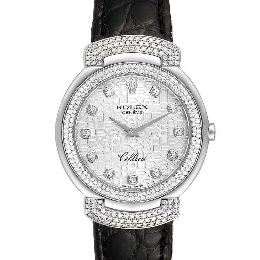 Rolex Cellini Cellissima 33mm White Gold Diamond Ladies Watch 6683 SwissWatchExpo