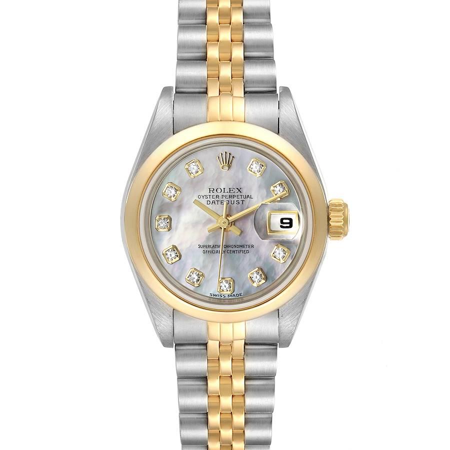 Rolex Datejust Steel Yellow Gold Diamond Ladies Watch 79163 Papers SwissWatchExpo