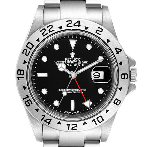 Photo of Rolex Explorer II Black Dial Parachrom Hairsprin Mens Watch 16570