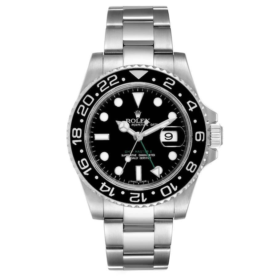 Rolex GMT Master II Black Dial Steel Mens Watch 116710 SwissWatchExpo