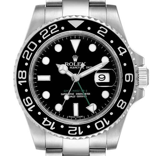 Photo of Rolex GMT Master II Black Dial Steel Mens Watch 116710