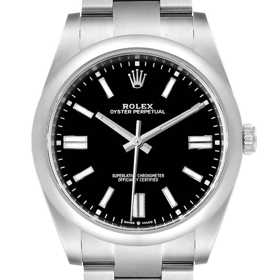 Rolex Oyster Perpetual 41mm Automatic Steel Mens Watch 124300 Unworn SwissWatchExpo