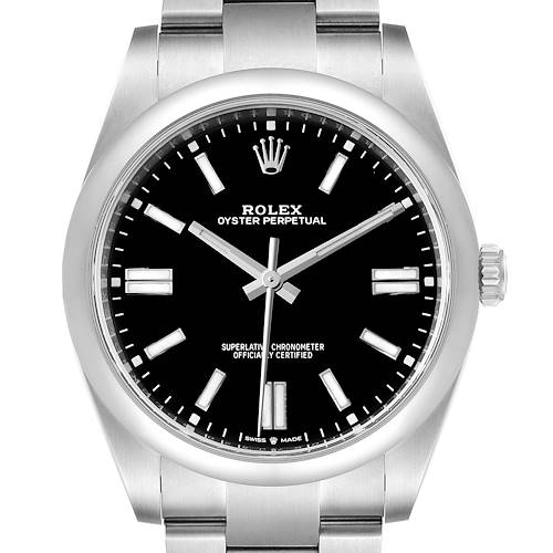 Photo of Rolex Oyster Perpetual 41mm Automatic Steel Mens Watch 124300 Unworn